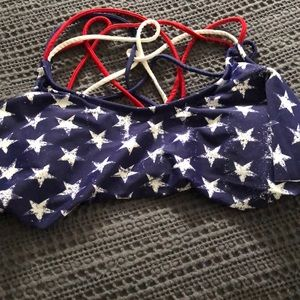 American Flag Bathing Suit Top